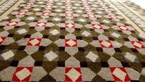 Moderner Teppich / aus Wolle / rechteckig / Motive