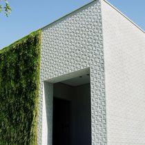 Natursteindekorplatte / aus Marmor / für Innenausbau / zur Außenraumgestaltung