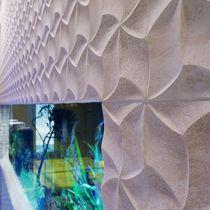 Natursteindekorplatte / aus Marmor / für Innenausbau / wandmontiert