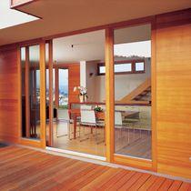 Terrassentür zum Schieben / Holz / Aluminium / Doppelverglasung