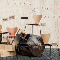Stuhl / Skandinavisches Design / für Kinder / aus Eiche / Chromstahl