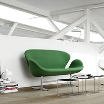 Polsterbank / Skandinavisches Design / Stoff / Leder / Stahl