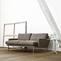 Modernes Sofa / Stoff / Leder / Edelstahl