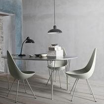 Stuhl / Skandinavisches Design / Polster / Leder / Stahl