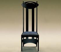 Stuhl / Art Nouveau-Stil / Hochlehner / Holz / Textil
