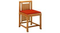 Stuhl / Art Deco / Hochlehner / Leder / aus amerikanischem Nussbaumholz