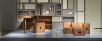 Moderner Hocker / aus Eiche / aus Kastanie / von Le Corbusier
