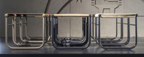 Modern Hocker / aus Stahl / Leder / von Charlotte Perriand