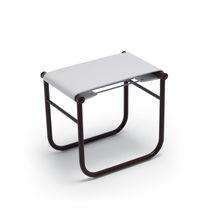Moderner Hocker / Leder / aus Stahl / von Charlotte Perriand