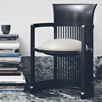 Sessel / Art Deco / aus Kunststoff / aus Kirschbaum / Nussbaum