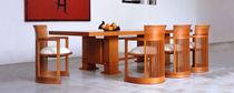 Sessel / Art Deco / Textil / Leder / Holz