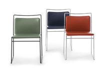 Modern Stuhl / Stapel / Leder / Textil