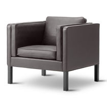 Moderner Sessel / Leder / für öffentliche Einrichtungen