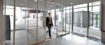 Schiebe-Tür / Glas / Innenbereich / Brandschutz