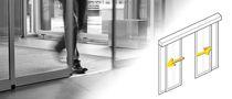 Schiebe-Eingangstür / aus Stahl / automatisch / verglast