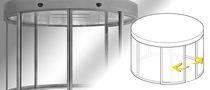 Dreh-Eingangstür / Glas / automatisch / Rundbogen
