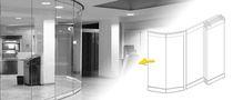 Trennwand / stapelbare Schiebe / Glas / für gewerbliche Einrichtungen