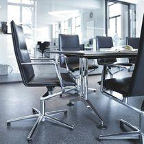 Polster-Konferenzstuhl / mit Armlehnen / sternförmiger Fuß / verstellbar