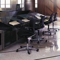 Moderner Sessel für Büro / Stoff / Leder / mit Rollen