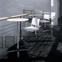 Moderner Barstuhl / Polster / mit Fußstütze / mit Armlehnen