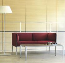 Modernes Sofa / Stoff / Leder / Aluminium
