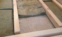 Dämmung zur Schalldämmung / aus Holzwolle / für Böden / zur Wanddickenmessung