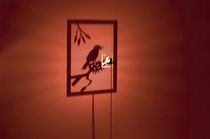 Designer Aluminium-Stehleuchte SHINING IMAGE 1 BIRD by Dennis Thies & Michael Rösing ABSOLUT LIGHTING