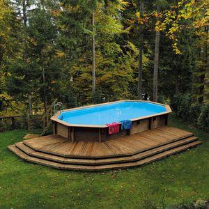 Schwimmbecken Zum Aufstellen / Holz / Außenbereich