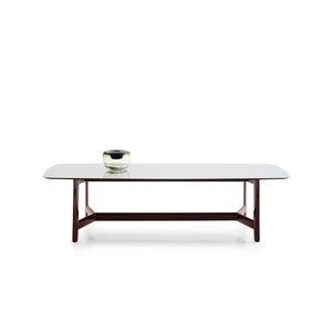 moderner tisch aus eiche aus eukalyptus glas