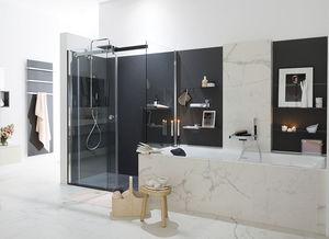 Modernes Badezimmer / Lackiertes Holz / Aus Marmor