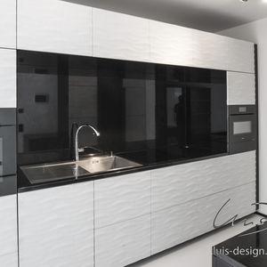 Moderne Küche / Holz / Aus Marmor / Handgefertigt
