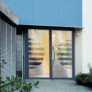 Eingangstür / Einflügelig / Aluminium / Mit Wärmedämmung