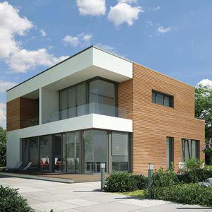 Fassadengestaltung holzoptik  Holzoptik-Fassadenverkleidung - alle Hersteller aus Architektur ...