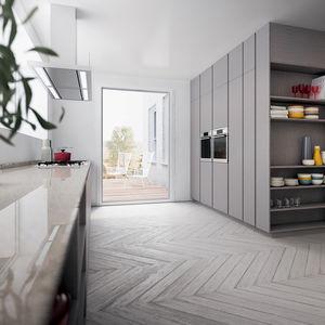 Moderne Küche / Holz / Kochinsel / Lackiert