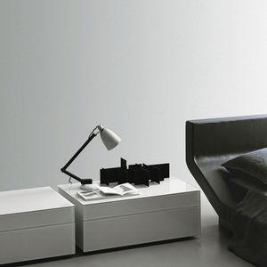 Moderner Nachttisch Lackiertes Holz Rechteckig Fr Hotels.