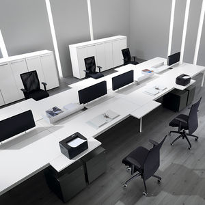 Bürotrennwand Für Theken / Glas / Holz / Modulierbarer