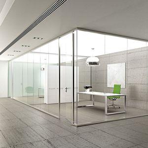 Festinstallierte Trennwand / Verglast / Für Gewerbliche Einrichtungen / Büro