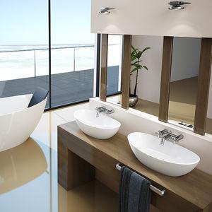 Aufsatzwaschbecken oval mit hahnloch  Ovales Waschbecken - alle Hersteller aus Architektur und Design ...