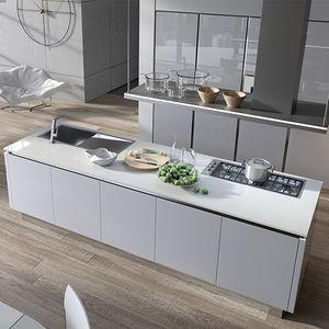 Schön Moderne Küche / Aus Aluminium / Glas / Laminat