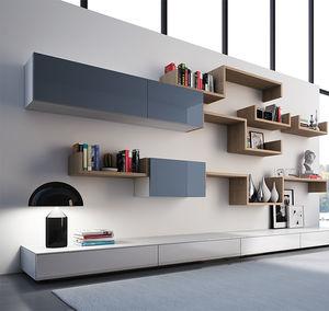 Bücherregal design holz  Regal - alle Hersteller aus Architektur und Design - Videos