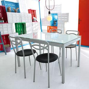 moderner tisch glas rechteckig auszieh - Feuer Modernen Design Rotes Esszimmer