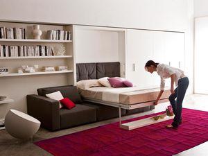 Modulierbares Sofa / Bett / Modern / Stoff