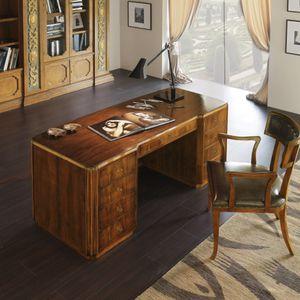 Nussbaum Schreibtisch / Aus Kirschbaum / Art Deco