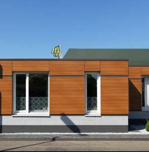 Fassadengestaltung holzoptik  Holzoptik-Fassadenverkleidungen - alle Hersteller aus Architektur ...