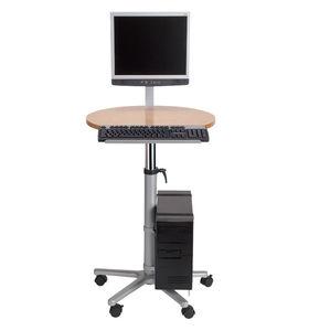 Moderner Computertisch / Metall / Rund / Gewerbe