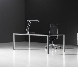 Chefschreibtisch / Holz / Metall / Modern