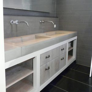 Waschtischplatte beton  Beton-Waschtischplatten - alle Hersteller aus Architektur und Design