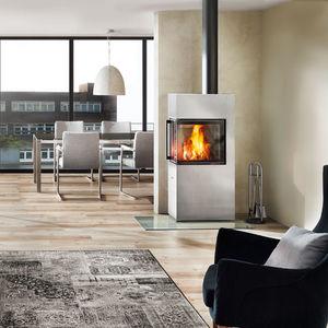 Holz Kaminofen / Modern / Für Ecken / Metall