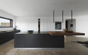 Gut Moderne Küche / Holz / Kochinsel / Ohne Griff