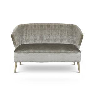 Modernes Sofa / Samt / 2 Plätze / Nach Maß